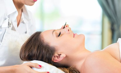 image for Full Set of Semi-Permanent Eyelash Extensions Plus Wow Brow Treatment from Angels Beauty Salon (Up to 63% Off)