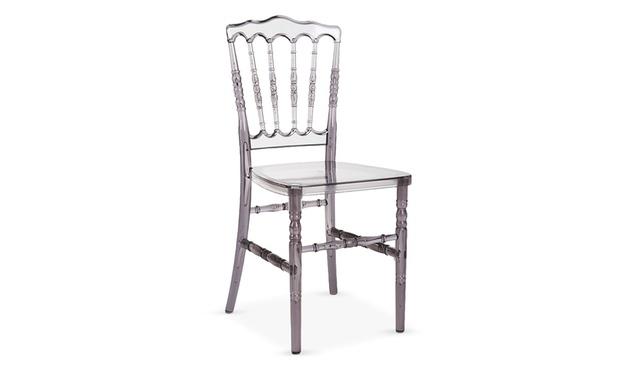 Lot de 4 chaises groupon shopping for Chaise pvc transparente