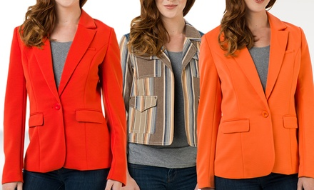 groupon daily deal - G.E.T. Jackets and Blazers. Multiple Styles Available.