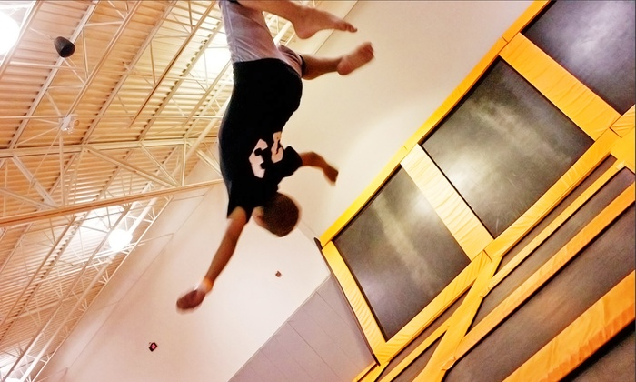 Airtime Trampoline & Game Park  - Troy: $14 for Two-Hour Trampoline Session for One at Airtime Trampoline & Game Park (Up to 30% Off)