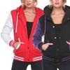 Women's New Varsity Hoodie Baseball Jacket