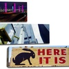 """36""""x12"""" Panoramic City Signs on Canvas"""