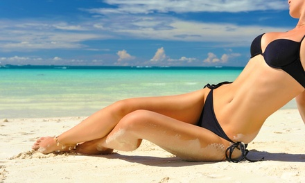 One or Two Spray Tans, a Brazilian Wax, or a Men's Brazilian Wax at Allvera (Up to 59% Off)
