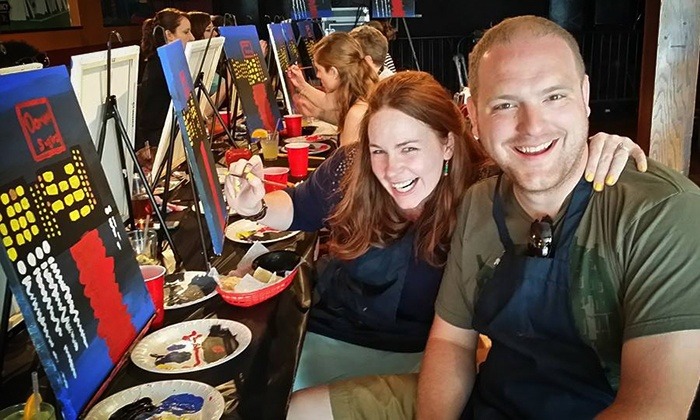 Pub and Paint - Multiple Locations: Two-Hour Painting Experience for One, Two, or Four from Pub & Paint (50% Off)