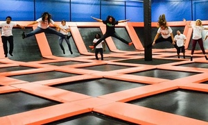 Flip'z Trampoline Park: Two-Hour Visit for Two or Four or Party Package for Up to 10 at Flip'z Trampoline Park (Up to 50% Off)