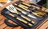 1 o 2 valigette con 5 utensili per barbecue