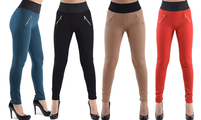 Women's High-Waisted Stretch Pants