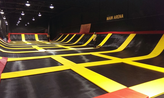 Stratosphere Trampoline Park-Hainesport - Stratosphere Trampoline Park: One Hour of Jump Time for Two or Four at Stratosphere Trampoline Park (Up to 50% Off). Four Options Available.