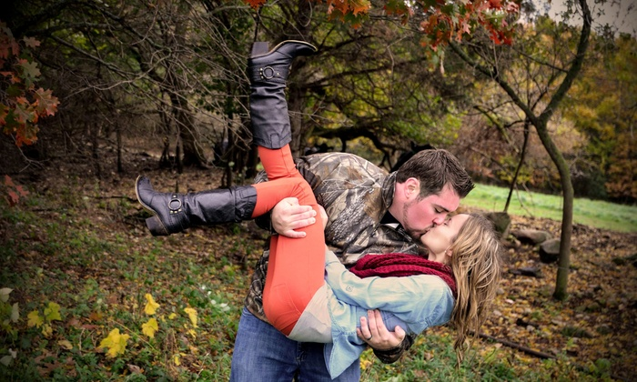 Lc Photography - Milwaukee: 45-Minute Engagement Photo Shoot with Digital Images from LC Photography (70% Off)