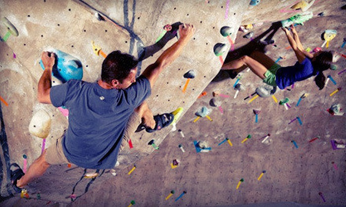 Climbmax Climbing Gym - Climbmax Gym: Rock-Climbing Package with Gear Rental for One or Two at Climbmax Climbing Gym (Up to 73% Off)