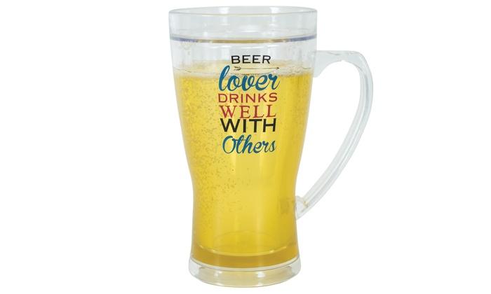 Novelty Beer Freezer Cups   Groupon