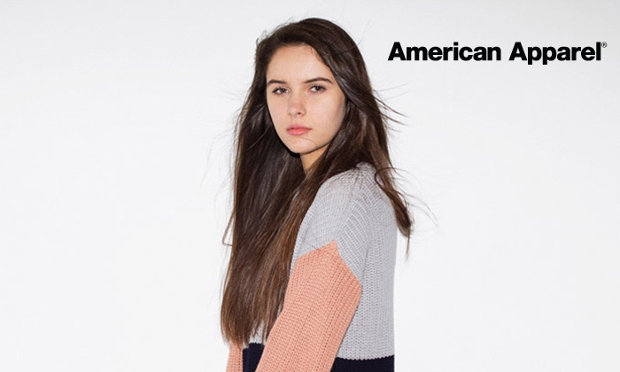 American Apparel - Gainesville: Clothing and Accessories In-Store or Online from American Apparel (Half Off). Four Options Available. Valid in US Only