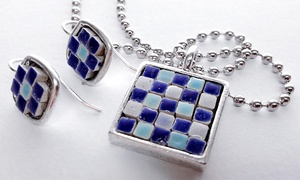 Laura K. Aiken Mosaic   Art: Jewelry-Making Class for 1, 2, or 4 or Private Party for Up to 10 at Laura K. Aiken Mosaic Art (Up to 62% Off)