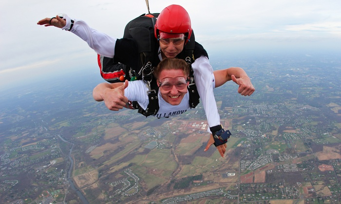 Skydive Collegeville - Skippack: Tandem Skydive for One or Two at Skydive Collegeville (Up to 46% Off)