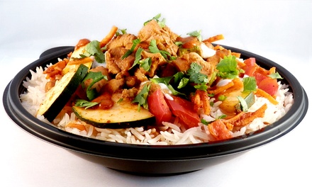 Healthy Modern Indian Food at Bombay Bowl (40% Off). Two Options Available.