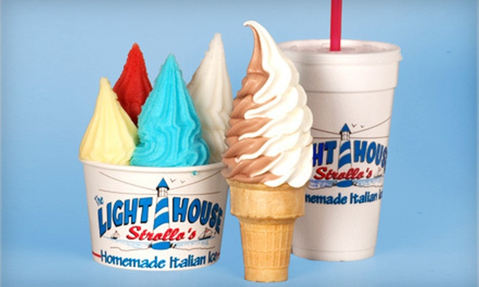 Strollo's Lighthouse Italian Ice - Clarks Landing: 5- or 10-Visit Punch Cards or $5 for $10 Worth of Dessert at Strollo's Lighthouse Italian Ice in Point Pleasant Beach