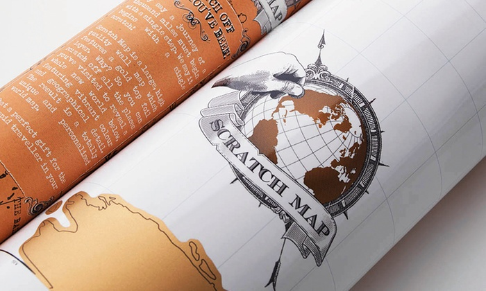 World edition scratch map poster groupon goods world edition scratch map poster gumiabroncs Choice Image