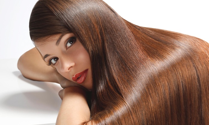 Salon S - Suffern: A Haircut and Straightening Treatment from Salon S (55% Off)