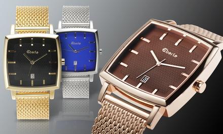 Eberle Men's Sullivan Watch with Mesh Bracelet