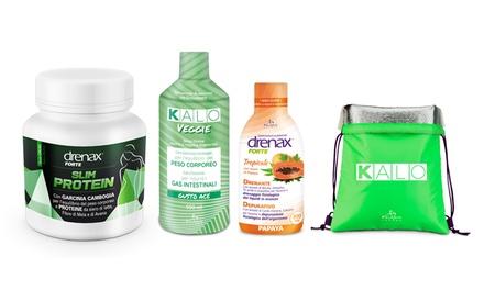 Fino a 9 confezioni di Drenax Forte Slim Proteine e Kalo con zaino omaggio