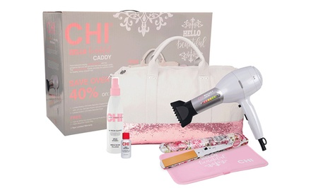chi hair styling tools chi hello beautiful dryer flat iron and styling set 9968