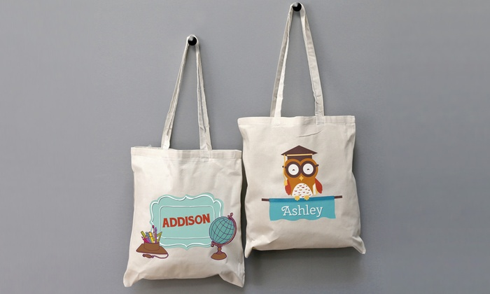Monogram Online: One or Two Personalized Tote Bags for Kids from Monogram Online (Up to 81% Off)