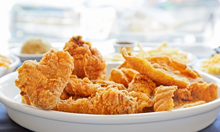 Krispy Krunchy Chicken - Highland Park: $12 for Four Groupons, Each Good for $5 Worth of American Fare at Krispy Krunchy Chicken ($20 )