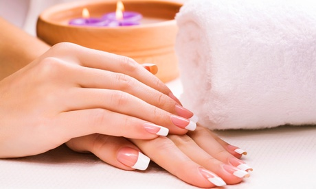 One UV Gel French Nail or Gel Manicure with Hand Treatments at I Nail Plus (Up to 43% Off)