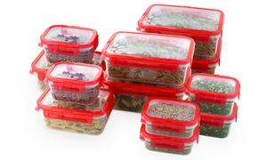 24-piece Plastic Locking Food-storage Set
