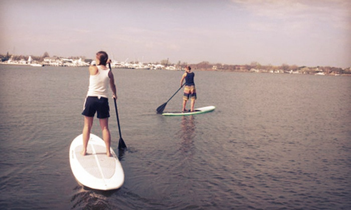 Fire Island Kite & SUP - Long Island: One-Hour Standup Paddleboard Rental, Lesson, or Tour for One or Two from Fire Island Kite & SUP (Up to 55% Off)