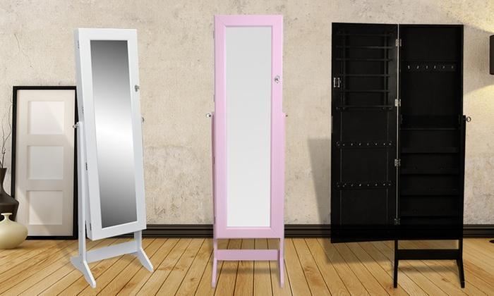 Armadio portagioie con specchio | Groupon Goods