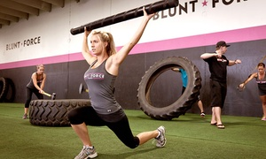 Blunt Force: 10 or 20 50-Minute Bootcamp Sessions, or One Month Full Force Workout Program at Blunt Force (Up to 74% Off)
