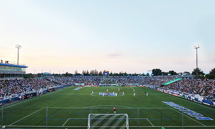 New York Cosmos - Hofstra University : New York Cosmos Soccer Match at Shuart Stadium on Saturday, May 23 (Up to 43% Off). Two Seating Options Available.