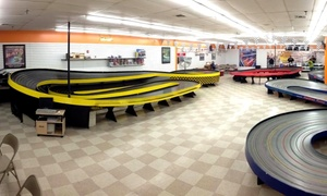 PJ Raceway: Slot-Car Racing for Two or Four at PJ Raceway (Up to 50% Off)