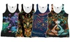 Into The AM Women's Zoo Print Tank-Tops: Into The AM Women's Zoo Print Tank-Tops