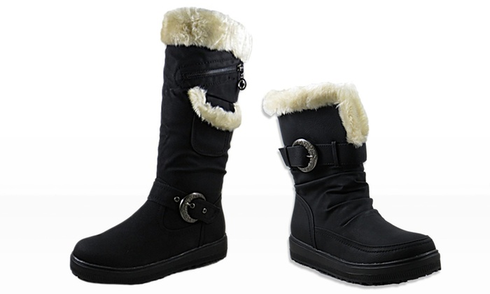 Apres by Lamo Amber Faux-Fur Boot: Tall or Short Apres by Lamo Amber Faux-Fur Boot from $23.99–$26.99
