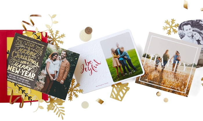 Tiny Prints: Save 50% off on Holiday Cards & Stationery from Tiny Prints. Two options available.
