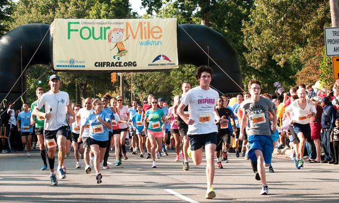 Children's Hospital Foundation Four Mile Walk/Run - Richmond: 2 or 4 Groupons, Each Good for Entry in the Children's Hospital Foundation Four Mile Walk/Run (Up to 46% Off)