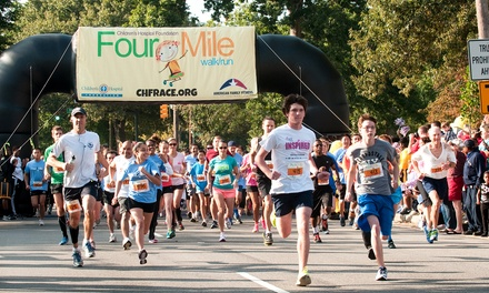 Entry for Two or Four in the Children's Hospital Foundation Four-Mile Walk/Run on October 10 (Up to 50% Off)