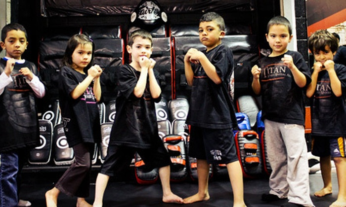 Titan Mixed Martial Arts - Maillardville: One Month of Unlimited Martial-Arts Classes for One or Two Children at Titan Mixed Martial Arts (Up to 80% Off)