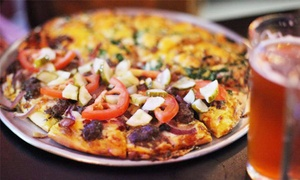 Mission Pizza & Pub: Pizza, Sandwiches, and Calzones at Mission Pizza & Pub (Up to 40% Off). Two Options Available.