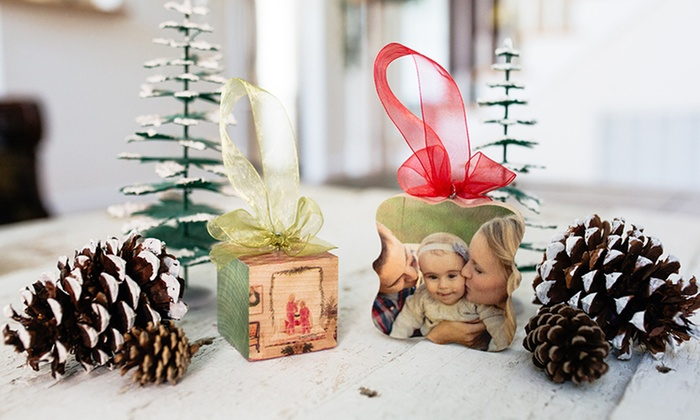 PhotoBarn: Personalized Christmas Ornaments from PhotoBarn (Up to 81% Off)
