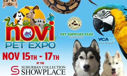 Single-Day Admission for One, Two, or Four at Novi Pet Expo (Up to 35% Off)