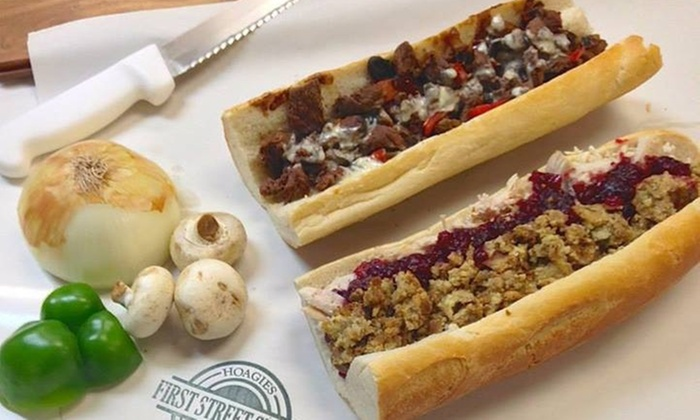 First Street Steaks - Northern Liberties -  Fishtown: Two Sandwiches at First Street Steaks and Hoagies (41% Off)