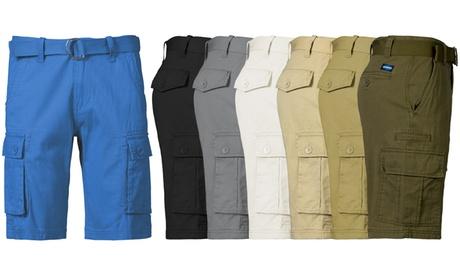 1688 Revolution Men's Cotton Cargo Shorts with Belt