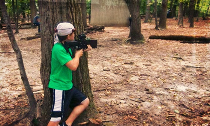 Fireball Mountain Outdoor Laser Tag - Wrightstown: 90 Minutes of Outdoor Laser Tag for Two or Four at Fireball Mountain Outdoor Laser Tag (Up to 55% Off)