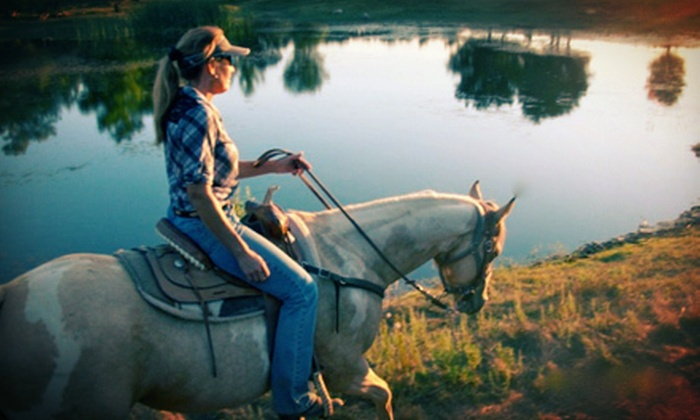 Vineyard Trail Rides - Milagro Farm Vineyard and Winery: Two-Hour Horseback Trail Ride for One with Wine Monday–Thursday or Friday–Sunday from Vineyard Trail Rides (Half Off)