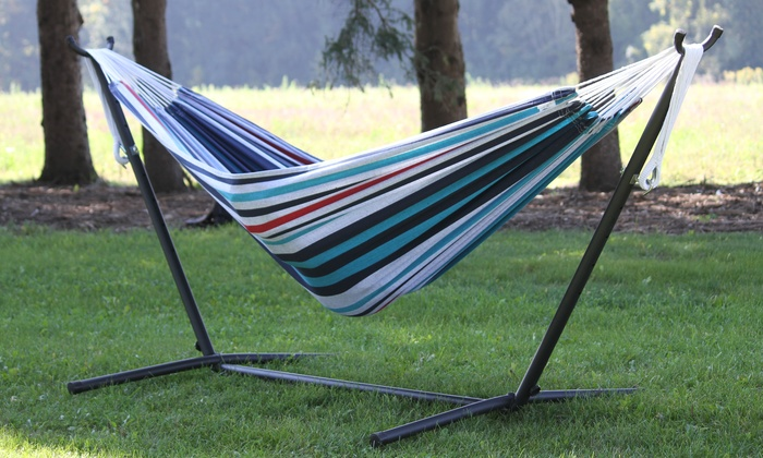 bo double hammock with stand  vivere 8ft   bo double hammock with vivere 8ft   bo double hammock with stand   groupon  rh   groupon