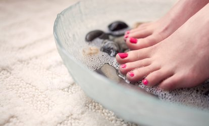 Pineapple <strong>Manicure</strong>, Cucumber Pedicure Package, or Gel-Polish Package at Envi Nails Salon and Spa (Up to 64% Off)