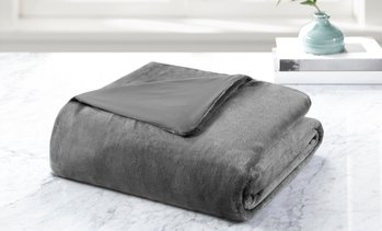 12Lb. or 15Lb. Weighted Blanket with Reversible Cover Set (2-Piece)